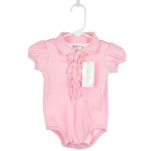 Ralph Lauren Light Pink Polo Onesie